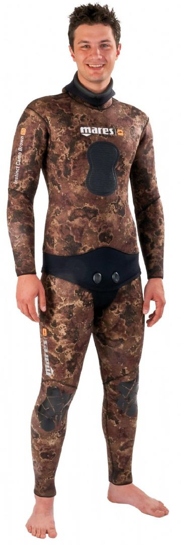 Mares - Instinct 55 - 5mm Spearfishing Neoprene 2 Piece Wetsuit - Camouflage Brown